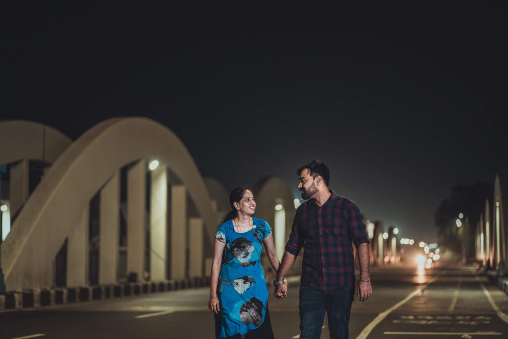 A Cute candid pose for your your pre-wedding photoshoot
