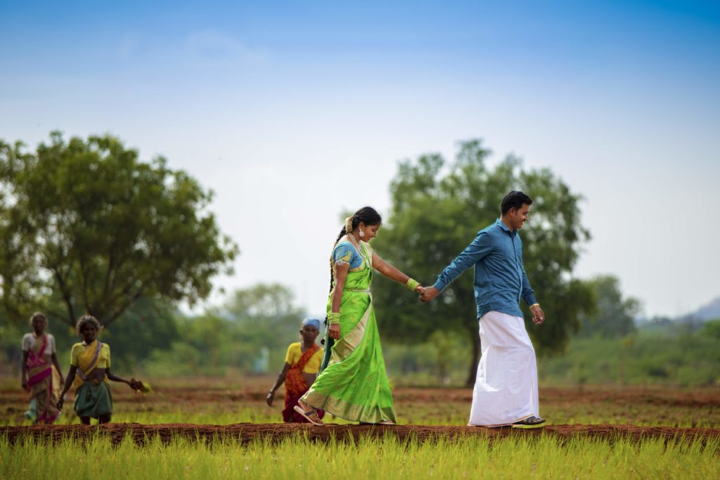 South Indian Post wedding photoshoot in Traditional attire